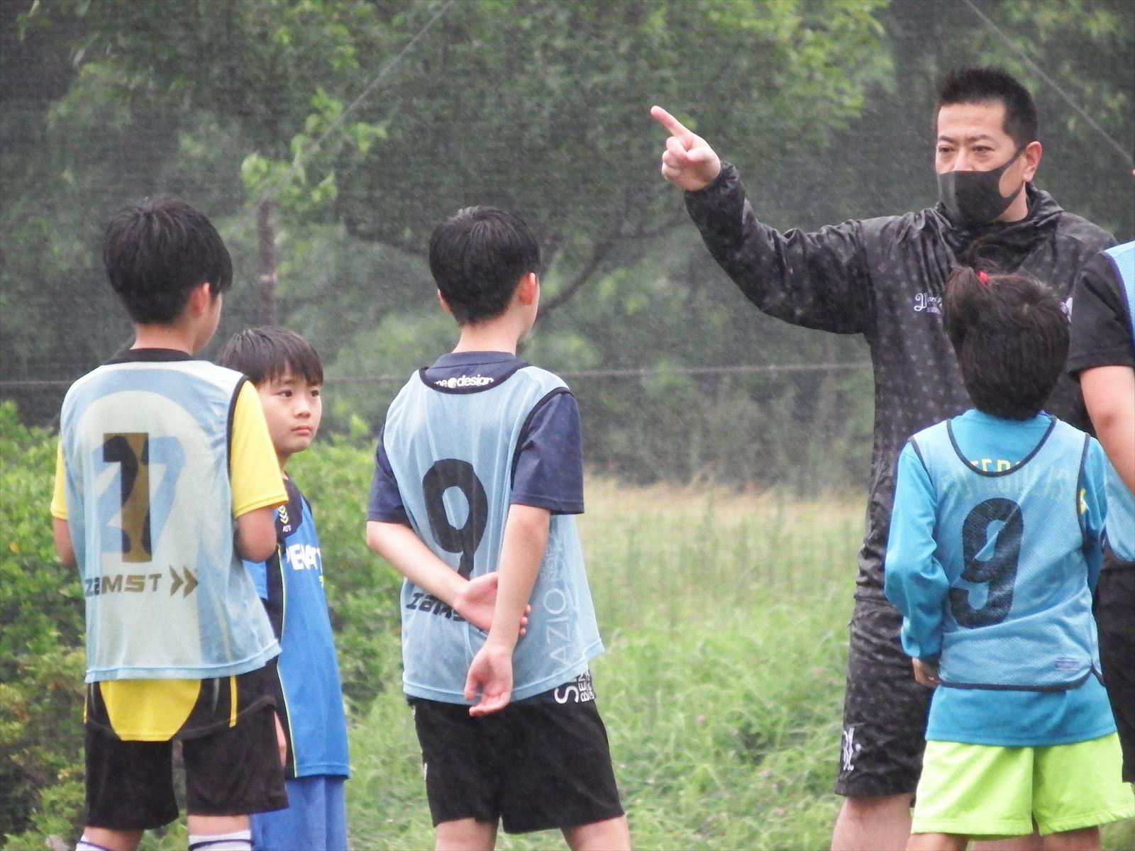 雨の練習、中々上がらないコンディション。